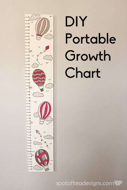 DIY Portable Growth Chart for #Baby #nursery | spotofteadesigns.com