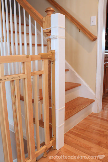 How to install a banister to banister baby gate | spofofteadesigns.com