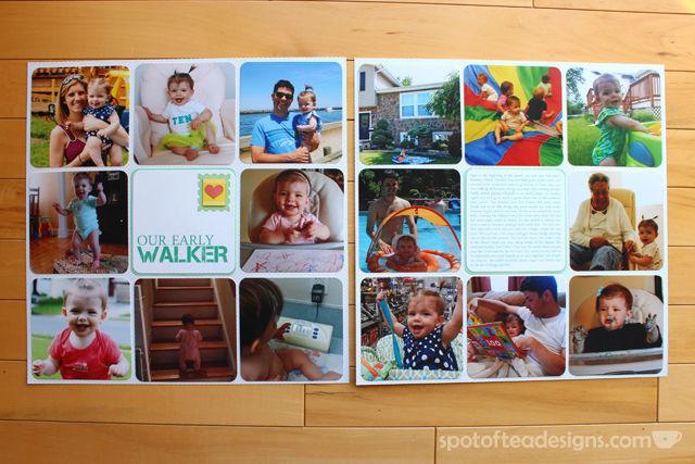Baby Book as Scrapbook - Month 10   spotofteadesigns.com