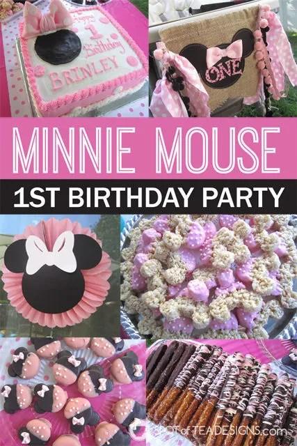 Minnie Mouse First #Birthday #Party #Disney #MinnieMouse | spotofteadesigns.com
