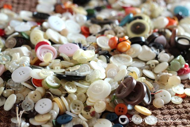 "Button collection from Great Great Grandma aka ""Nana"" | spotofteadesigns.com"