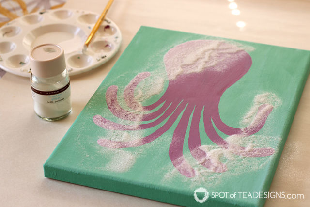 Under the Sea #Nursery Octopus Wall Art featuring @DecoArt_Inc Americana Acrylic Paint | spotofteadesigns.com