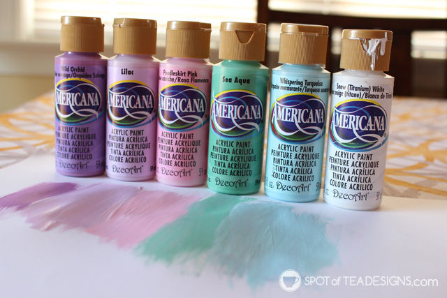 Under the Sea #Nursery Color Palette - @DecoArt_Inc Americana Acrylic Paint | spotofteadesigns.com