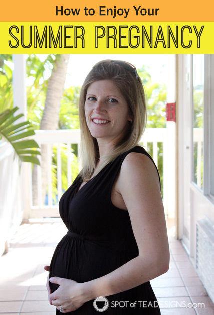 How to Enjoy Your Summer #Pregnancy | spotofteadesigns.com