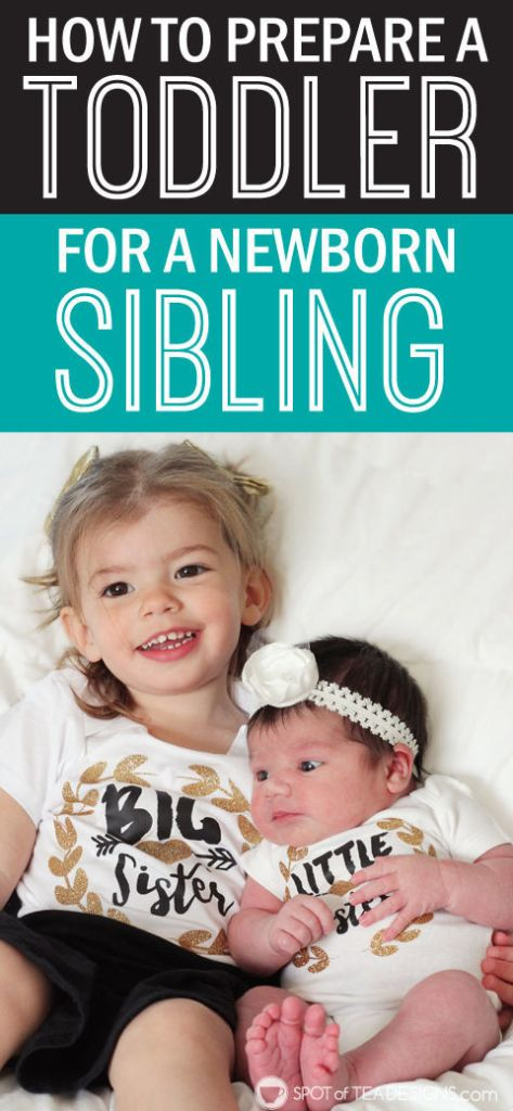 How we prepared our #toddler for a #newborn sibling. #baby | spotofteadesigns.com