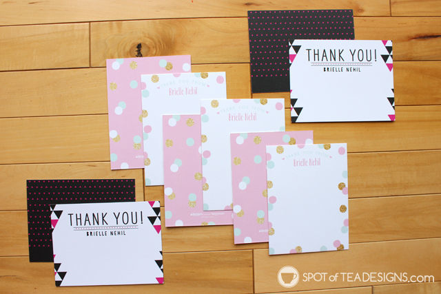 Personalized gift ideas for kids: custom thank you stationery from @TinyPrints | spotofteadesigns.com