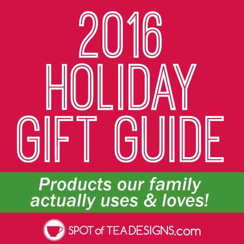 Holiday Gift Guide - #giftideas for her, him and toddlers broken out by personalities | spotofteadesigns.com