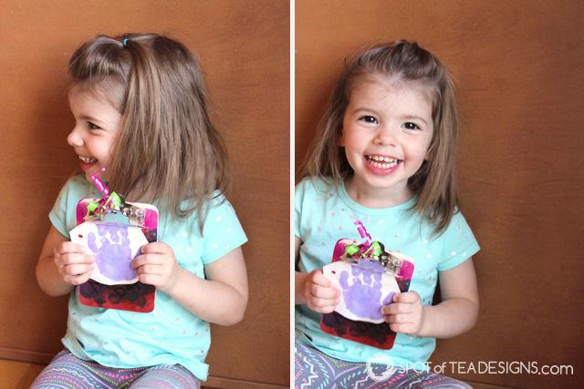 Handmade #mothersday #gift - handprint card with cute poem | spotofteadesigns.com
