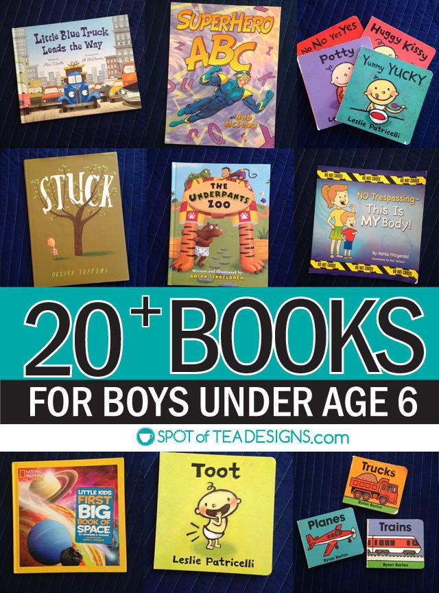 20+ favorite books for boys under age 6 | spotofteadesigns.com