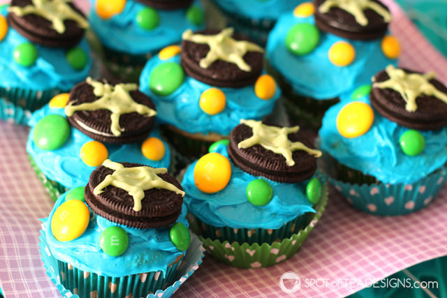 Turtle Cupcakes for Under the Sea #Birthday #Party | spotofteadesigns.com