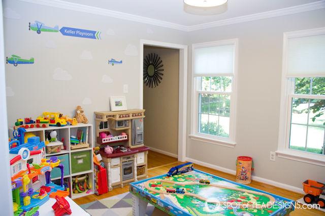 Transportation Themeds Boys Playroom - | spotofteadesigns.com