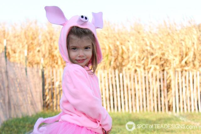 DIY Pig Halloween Costumes for toddlers   spotofteadesigns.com