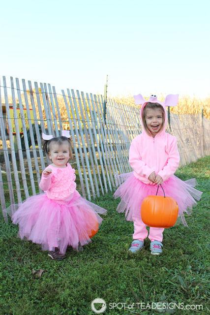 DIY Pig Halloween Costumes for toddlers | spotofteadesigns.com