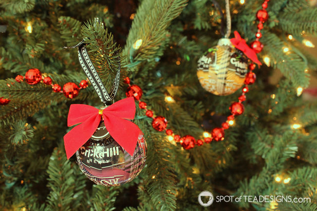 Beer Label Christmas Ornament - great DIY gift for guys featuring their favorite #beer! | spotofteadesigns.com