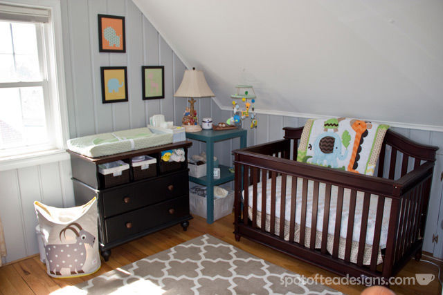 Gender Neutral Modern Animal #Nursery | spotofteadesigns.com