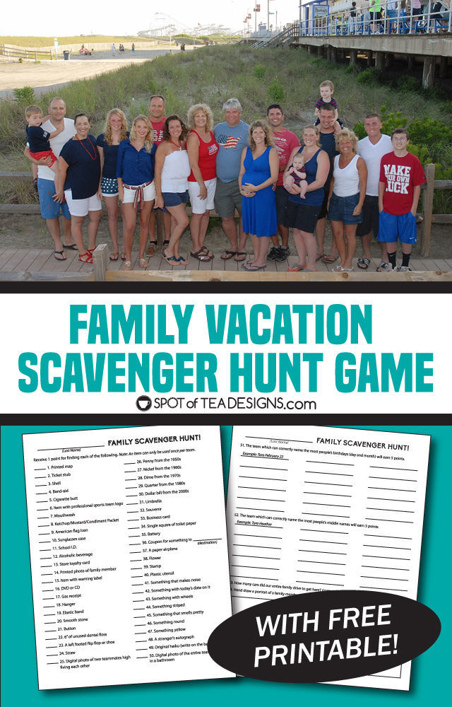 graphic regarding Printable Family Reunion Games named Relatives Recreation: Cost-free Printable Scavenger Hunt