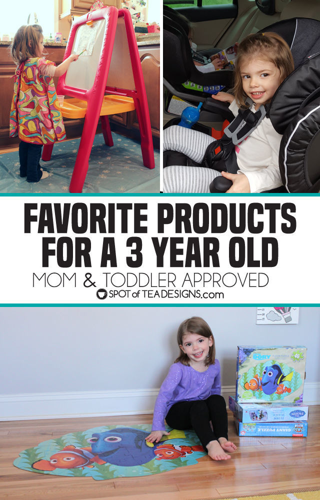 Favorite Products for a 3 year old - mom and toddler approved | spotofteadesigns.com