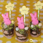 No Bake Easter Dirt Cup Place Card