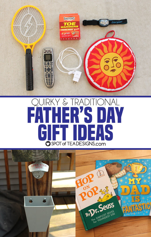 Quirky and traditional father's day gift ideas for dad | spotofteadesigns.com