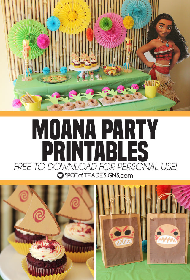 Moana Party Printables To Download Free And Use At Your Party