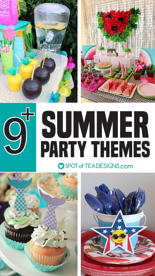 9+ summer party themes to throw this season! | spotofteadesigns.com