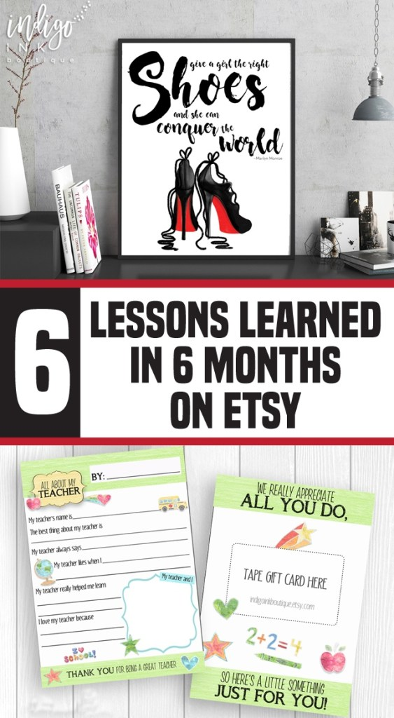6 Lessons Learned in 6 Months on Etsy | spotofteadesigns.com