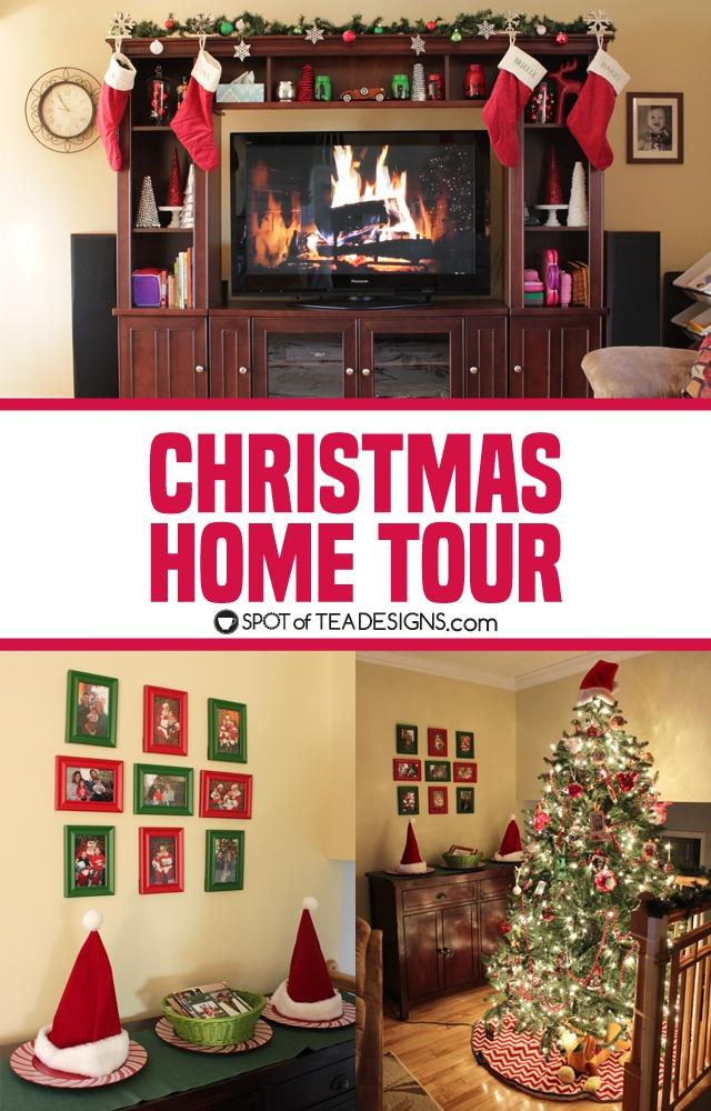 Christmas Home Tour 2017 | spotofteadesigns.com