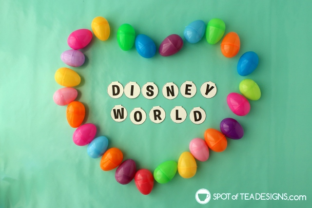 Easter Egg Hunt Disney World Reveal (with free printable!) | spotofteadesigns.com