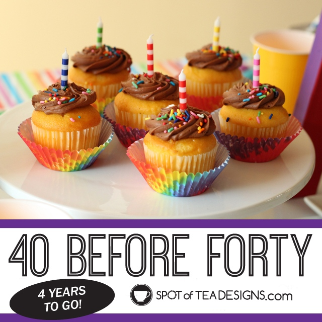 40 Before Forty List - 40 things to do with only 4 years to go! | spotofteadesigns.com