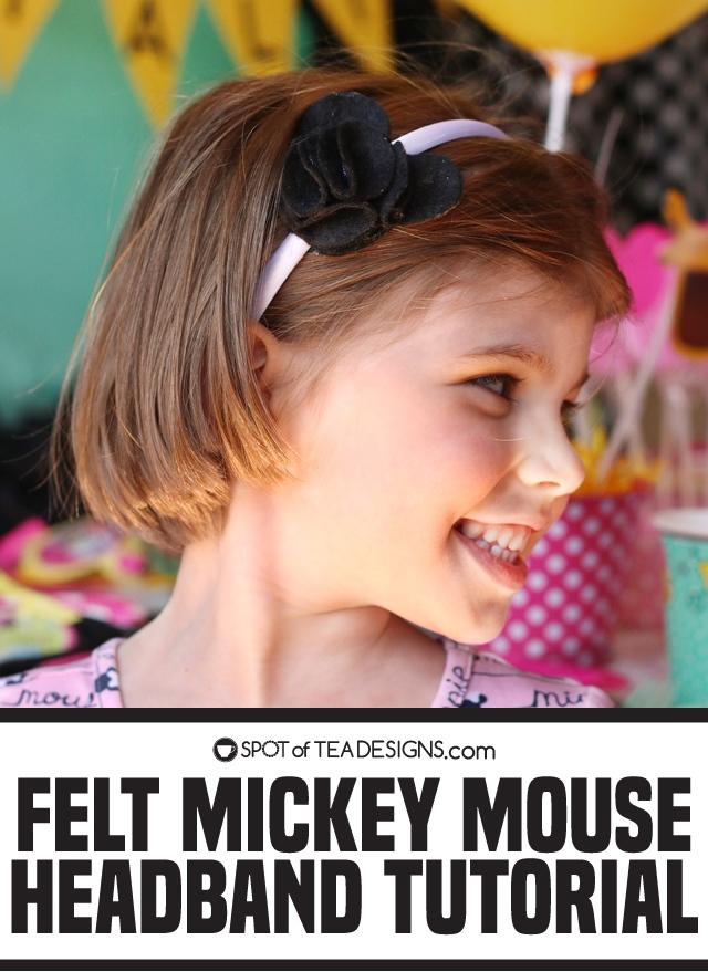Felt Mickey Mouse headband tutorial   spotofteadesigns.com