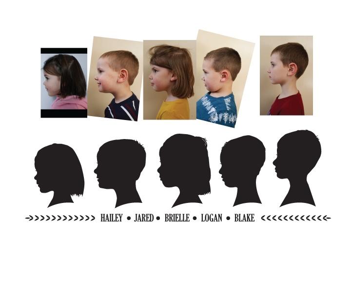 Mother's Day Gift Idea: Digital silhouette portrait of all the grandkids | spotofteadesigns.com
