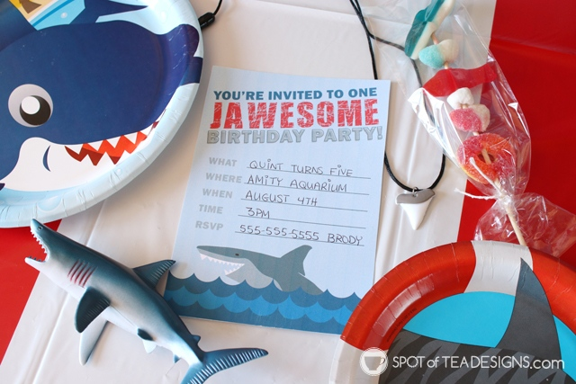 Shark party printables to make your shark birthday party jawsome!   spotofteadesigns.com