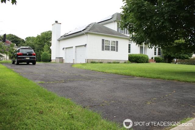 """Nehil Home Tour: the """"before"""" photos - driveway   spotofteadesigns.com"""