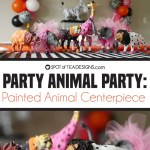 Party Animals Party   Painted Animal Centerpiece