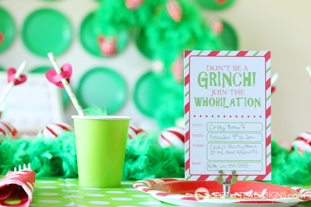 Grinch Party Printables Spot Of Tea Designs