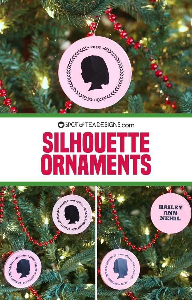 Silhouette Christmas Ornament Spot Of Tea Designs