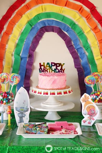 Trolls Party Hacks - use Color Mist to make food colorful | spotofteadesigns.com