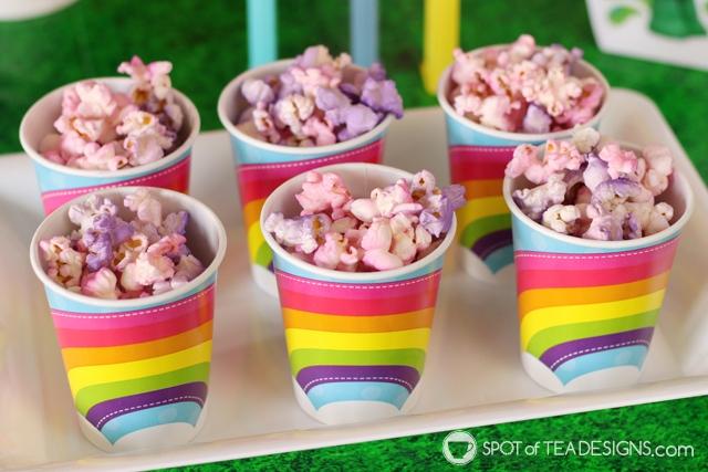 Trolls Party Hacks - use Color Mist to make food colorful   spotofteadesigns.com