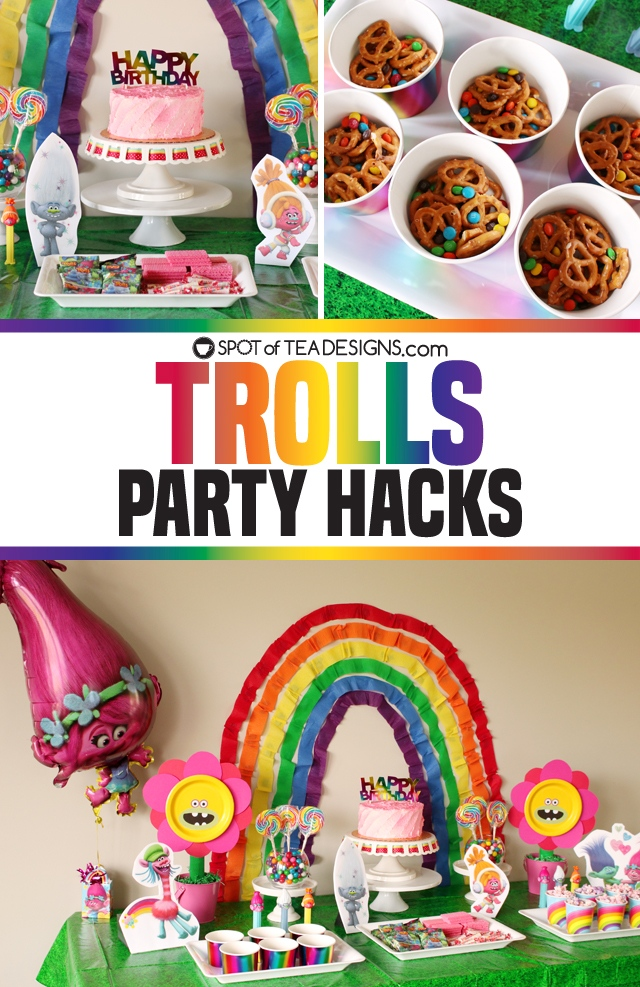 Trolls Party Hacks - budget friendly tips for a colorful and fun Trolls Party | spotofteadesigns.com