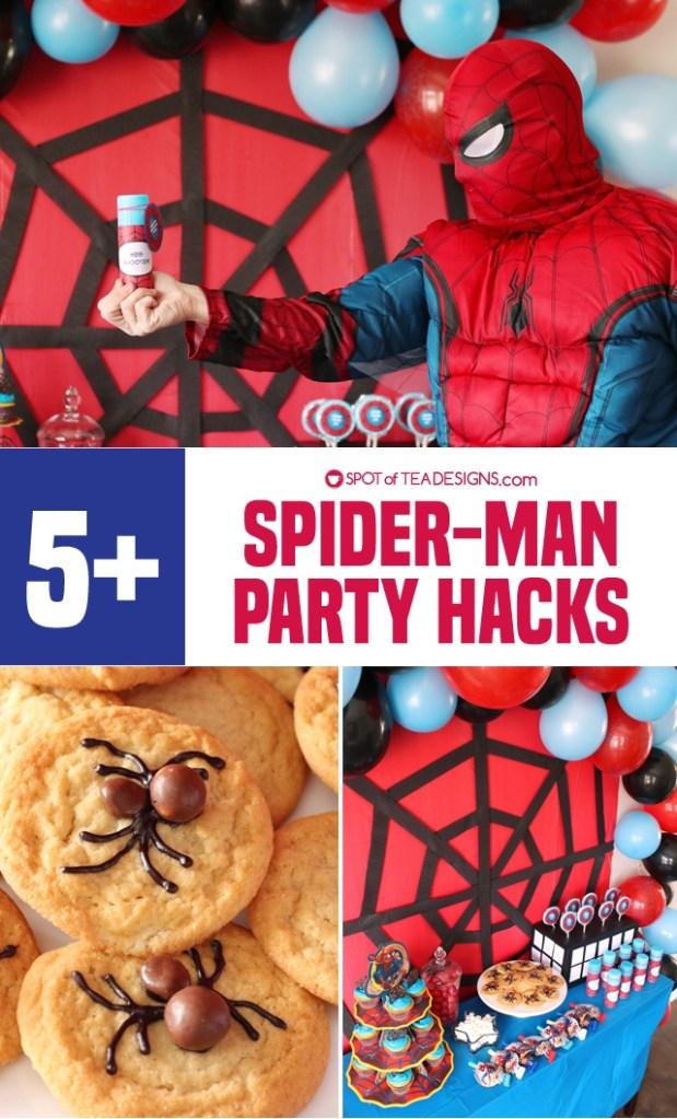 5+ budget friendly spider-man party hacks | spotofteadesigns.com