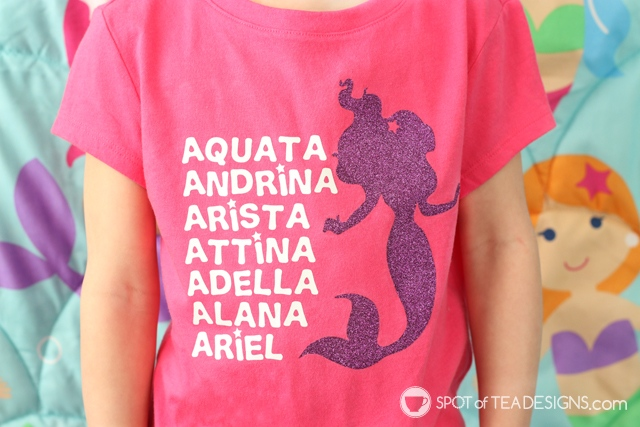 DIY Disney T-shirt: The Little Mermaid sisters with free SVG cut file! | spotofteadesigns.com