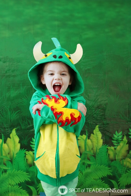 DIY Hoodies for kids - dragon | spotofteadesigns.com