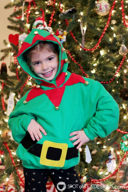 DIY Hoodies for kids -elf   spotofteadesigns.com