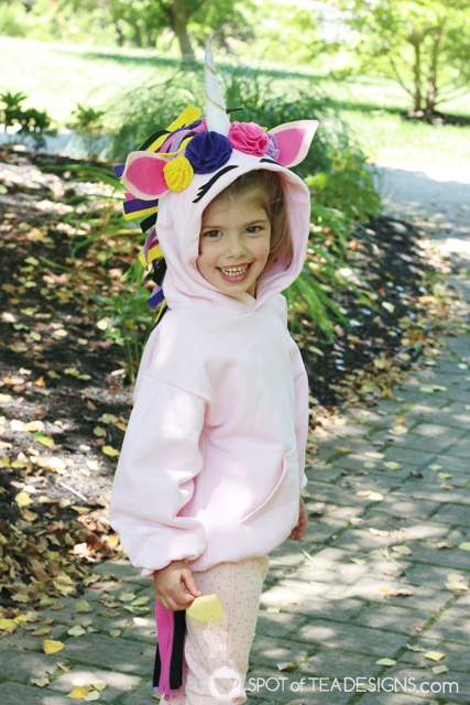 DIY Hoodies for kids - unicorn | spotofteadesigns.com