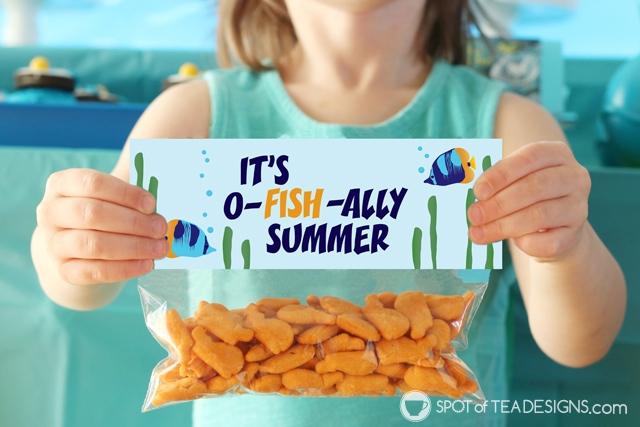 Its ofishally summer bag topper - great last day of school gift | spotofteadesigns.com