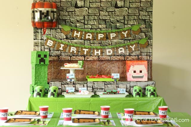 Minecraft Party Hacks | spotofteadesigns.com