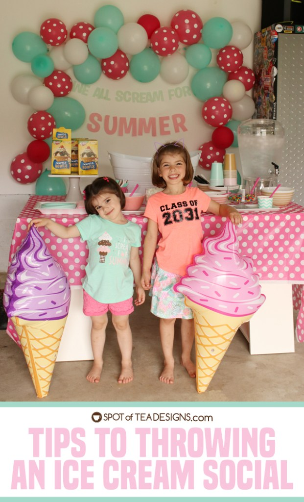 Tips for hosting an ice cream social | spotofteadesigns.com