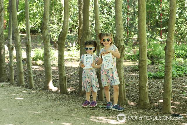 Summer bucket list - featuring nature scavenger hunt printables in use   spotofteadesigns.com