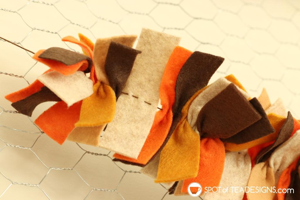 DIY Felt scraps fall garland | spotofteadesigns.com