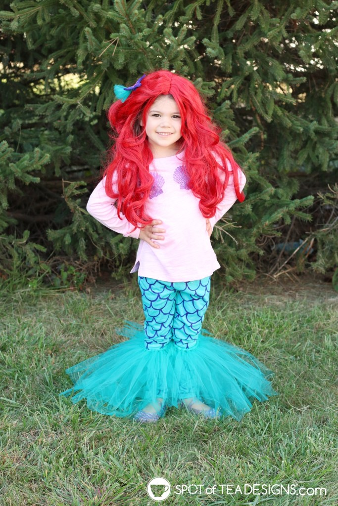 DIY Mermaid Halloween Costume | spotofteadesigns.com